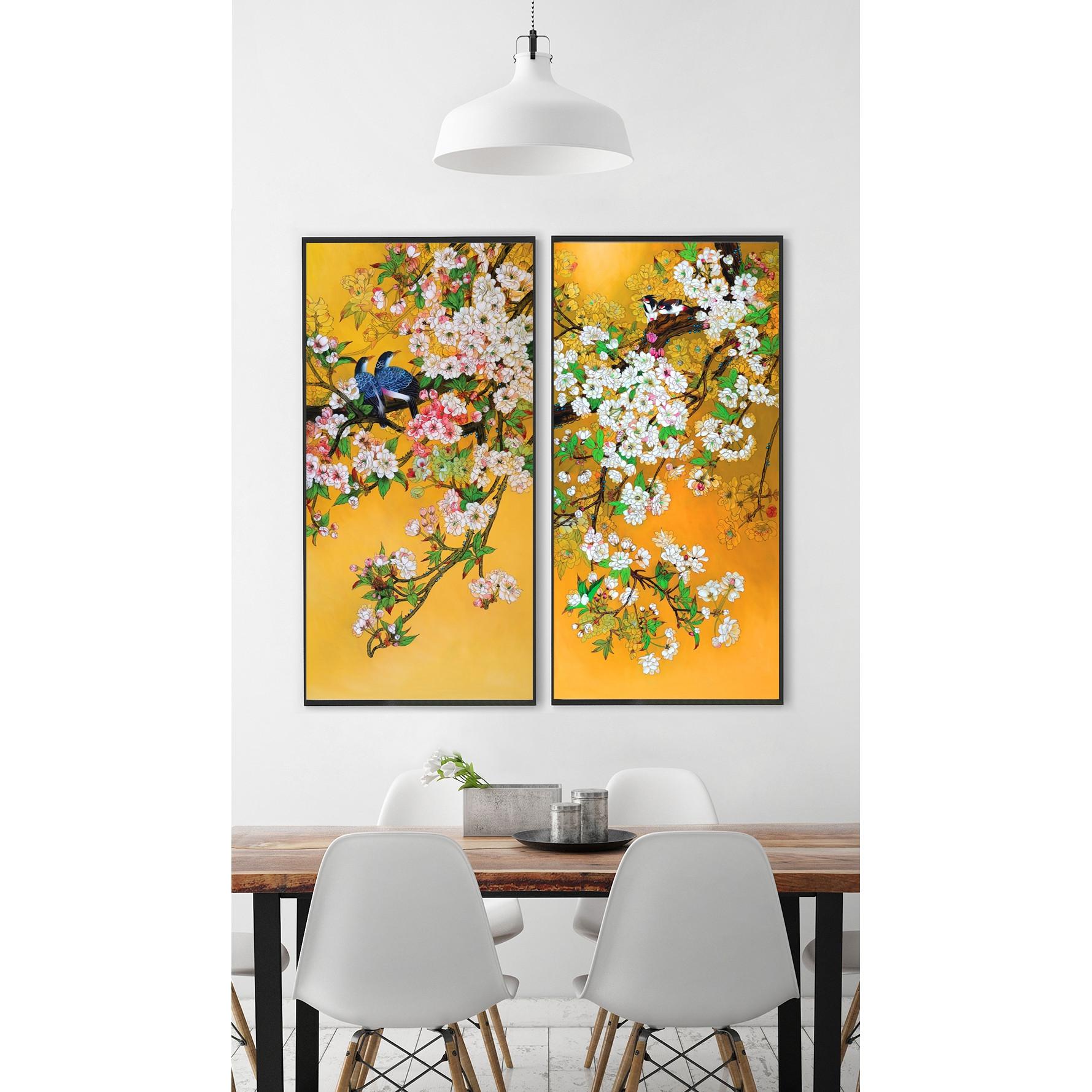 Tranh Treo Tường Đẹp- Tranh canvas Phong Cảnh Mùa Xuân