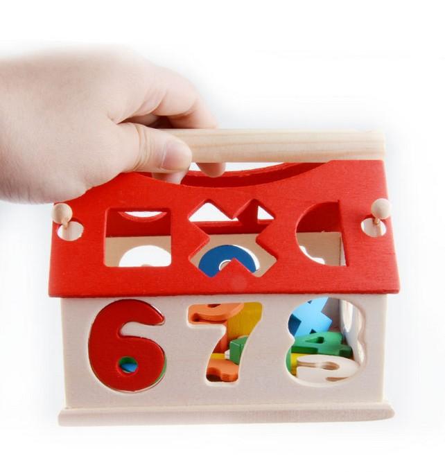 Đồ chơi gỗ Ngôi nhà thả số mini - HH1066