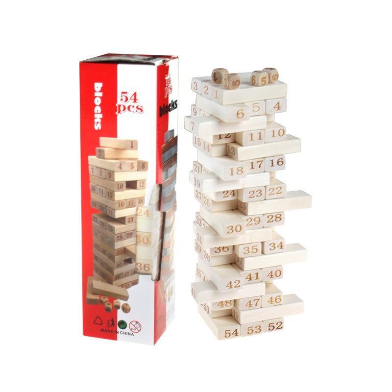 Rút gỗ size lớn 28cm 54 miếng gỗ 54Blocks