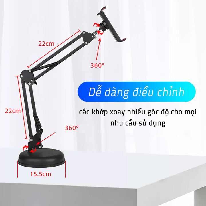 Giá đỡ kẹp điện thoại, máy tính bảng Vocal Stents để bàn đế tròn