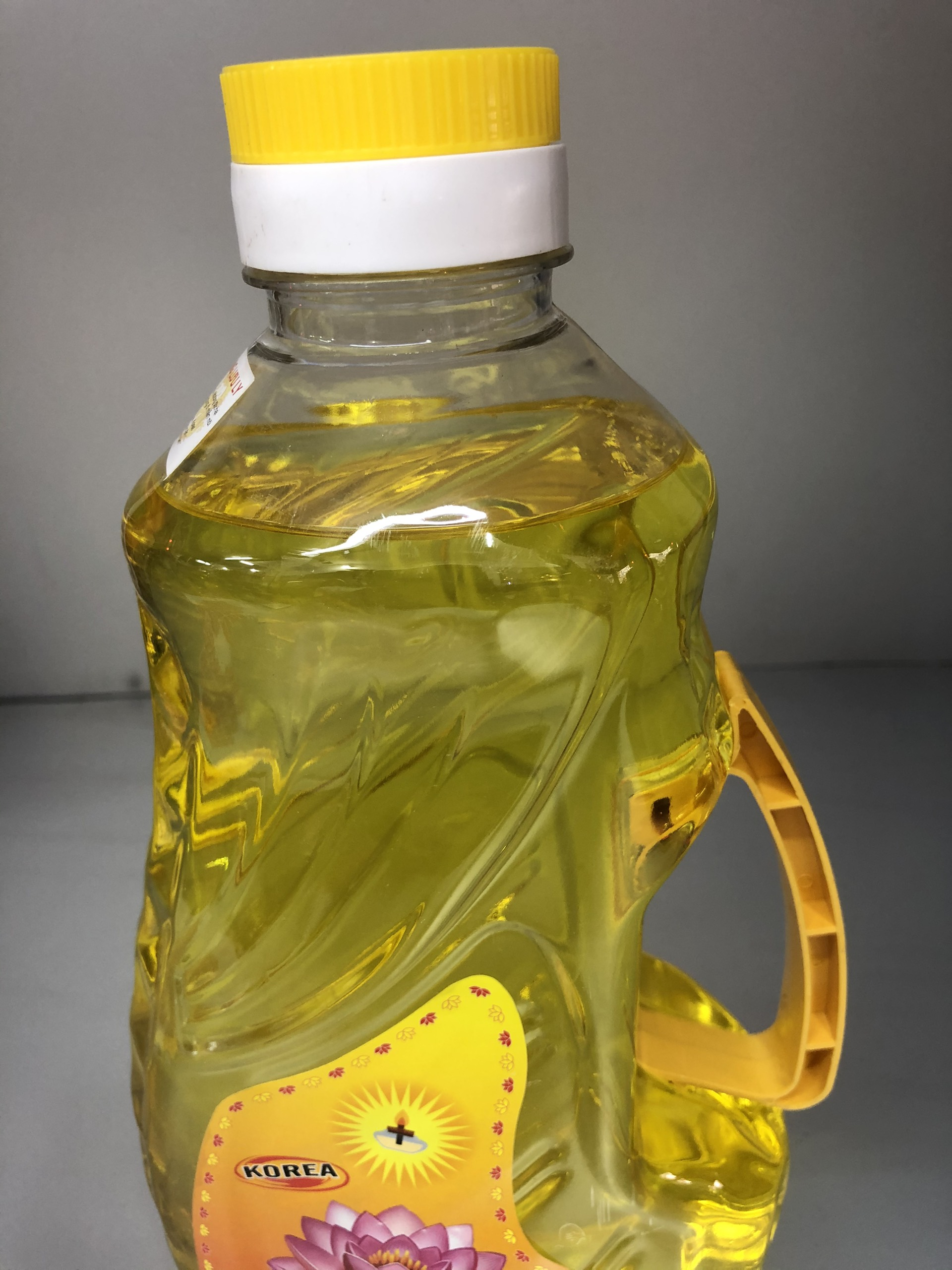 Dầu đốt đèn thờ hoa sen 2 lít đủ không mùi , không độc hại, chai mầu vàng DA186