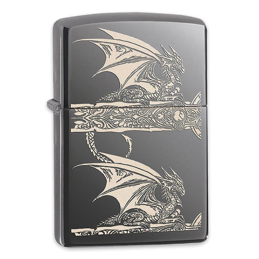 Bật Lửa Zippo 28961 - Bật Lửa Zippo Anne Stokes Gothic Black Ice Laser Engrave