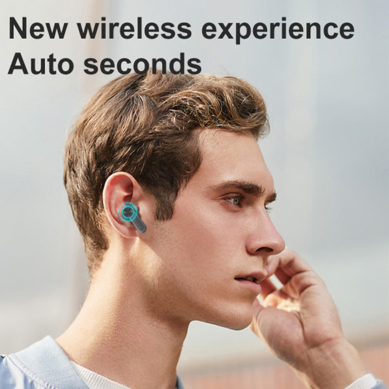 Tai Nghe Bluetooth Cảm Biến Vân Tai TWS Chống Thấm Mồ Hôi Công Nghệ IPX5 - Hàng Chính Hãng PKCB
