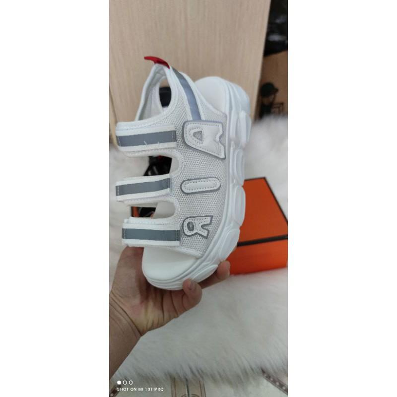 Giày sandal Hàn Quốc AIR 3 quai độn đế siêu nhẹ PHẢN QUANG 2 màu