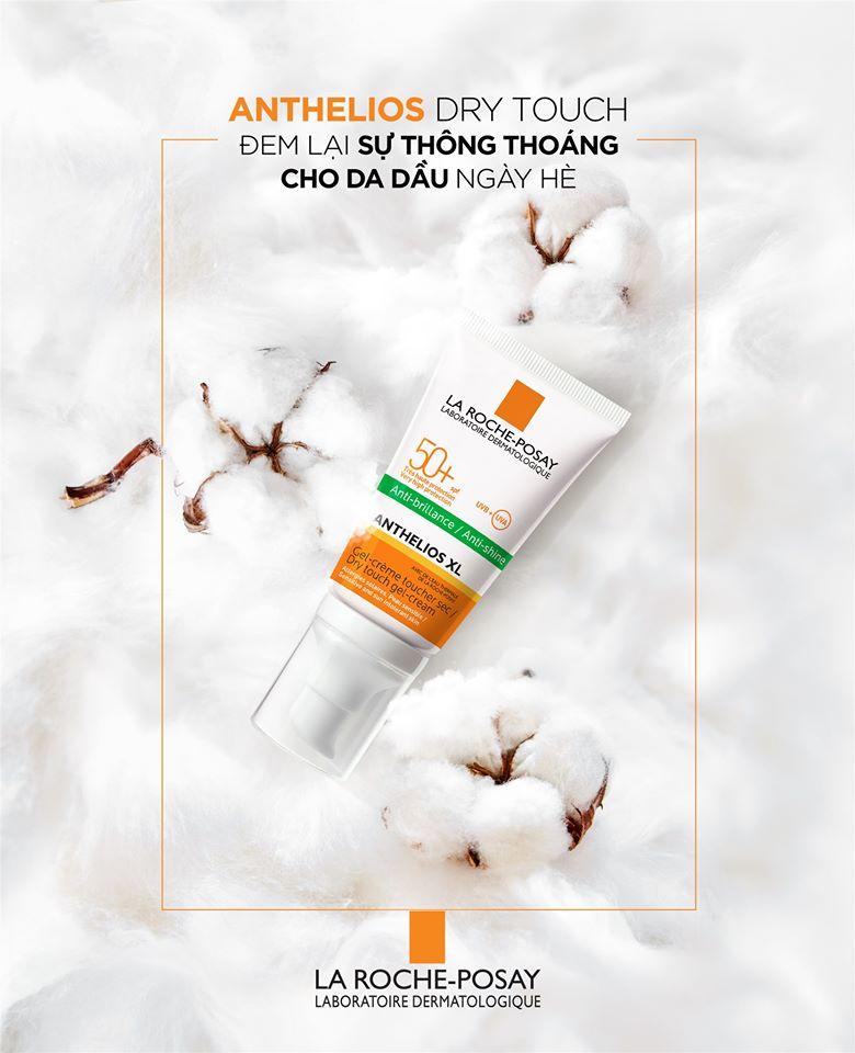 Kem Chống Nắng Không Màu Kiểm Soát Dầu La Roche-Posay Anthelios XL Dry Touch Gel-Cream SPF 50+ UVB & UVA (50ml) - TẶNG MÓC KHÓA