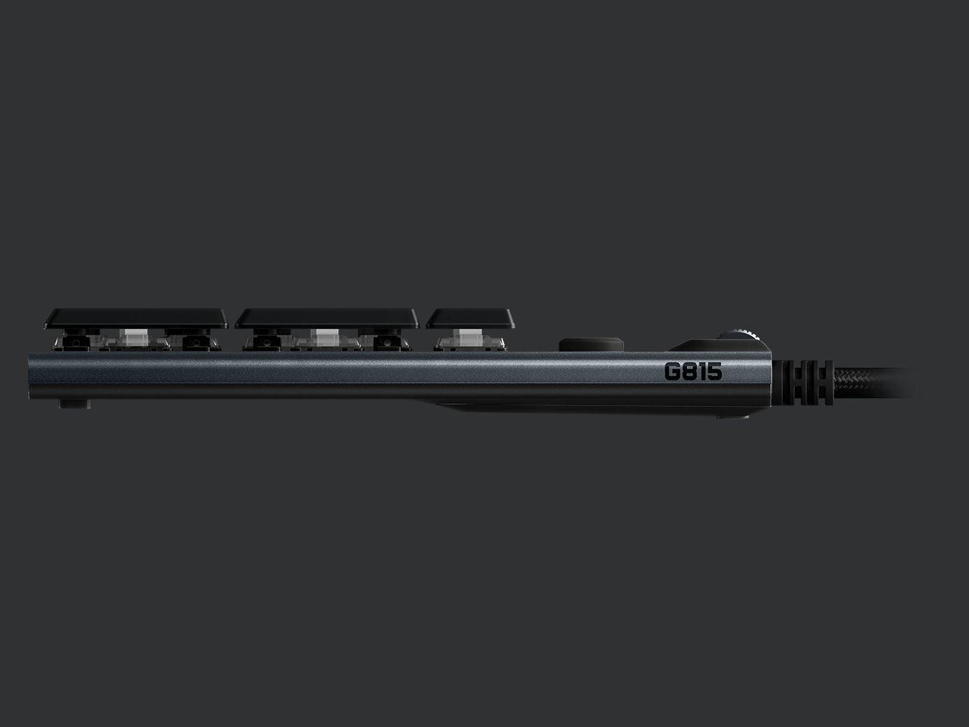 Bàn phím cơ Logitech G813 GL Clicky switch - Hàng chính hãng