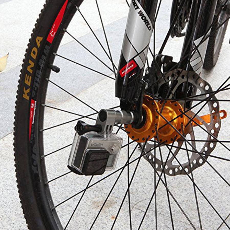 Phụ kiện gắn Gopro lên trục bánh xe đạp