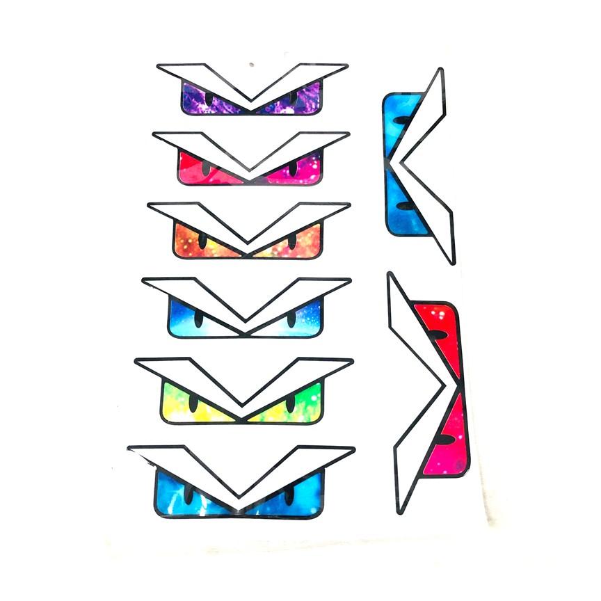 Tem dán trang trí xe hình đôi mắt ( Kiểu Ngẫu Nhiên ) Green Networks Group