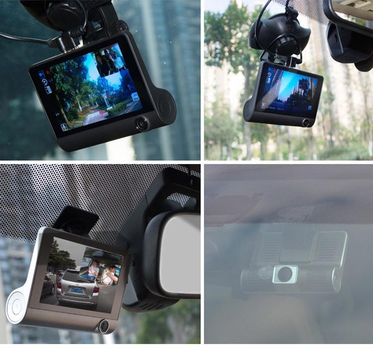 Camera Hành Trình Ô Tô 3 Ống Kính WDR Full HD 1080 Tặng Kèm Camera Lùi Cao Cấp AZONE
