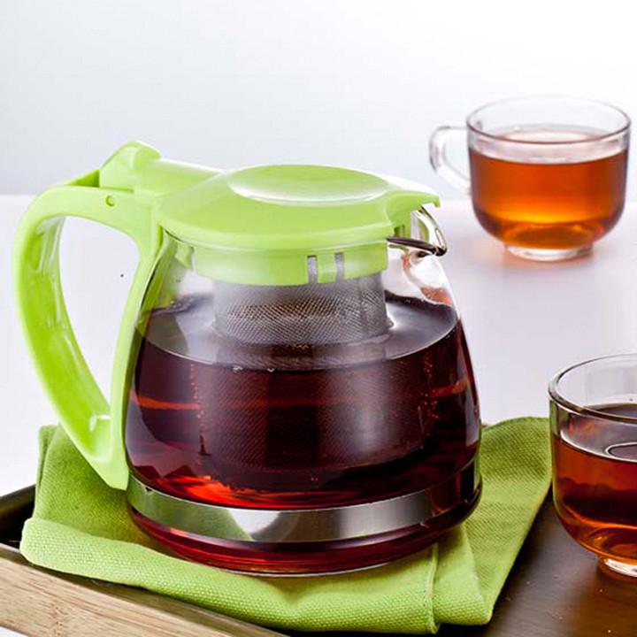 Bình pha trà thủy tinh chịu nhiệt có lưới lọc 700ml