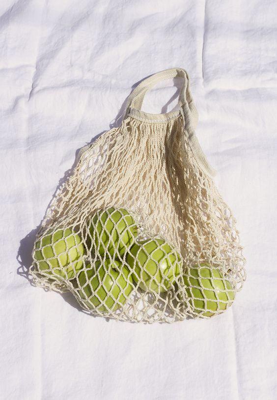 Túi lưới có quai xách đựng đồ cá nhân, trái cây, rau quả tiện dụng