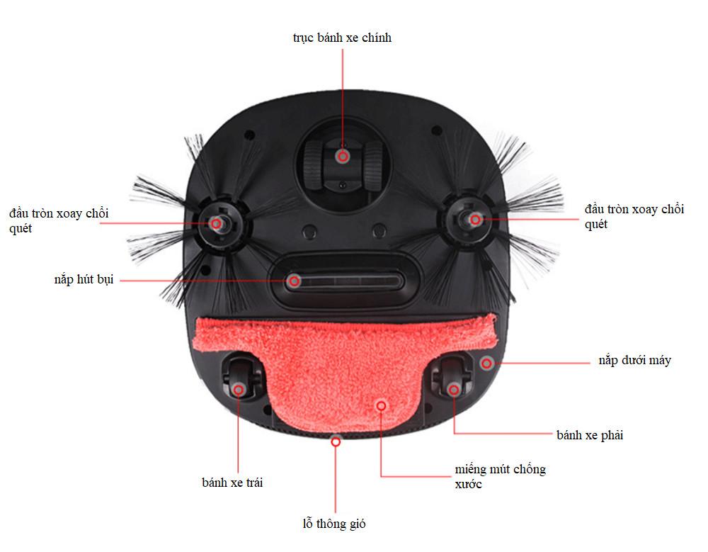 Robot lau nhà thế hệ mới - lau nhà và hút bụi