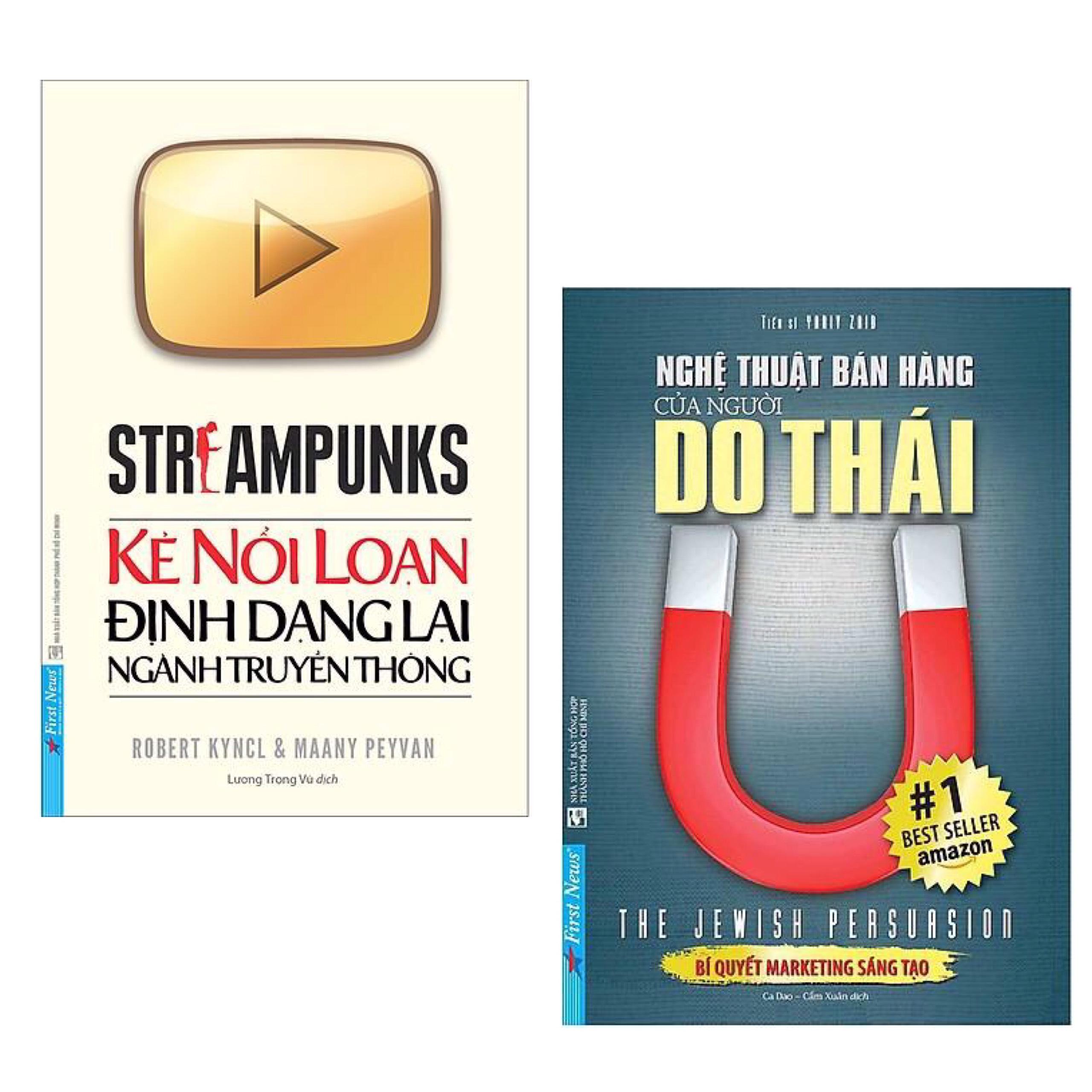 Combo Sách Marketing - Bán Hàng Đỉnh Cao: Streampunks - Kẻ Nổi Loạn Định Dạng Lại Ngành Truyền Thông + Nghệ Thuật Bán Hàng Của Người Do Thái
