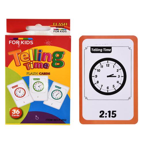Thẻ nhận biết phát triển trí não - Telling Time ( Từ 3-6 tuổi)