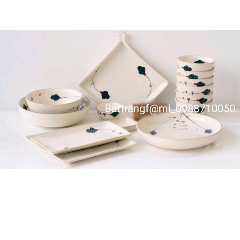 Bộ đồ ăn vẽ tay gốm sứ Bát Tràng cao cấp