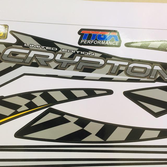 Tem dành cho xe Exciter 2009 Crypton Rời xe đen in cực nét (bộ)