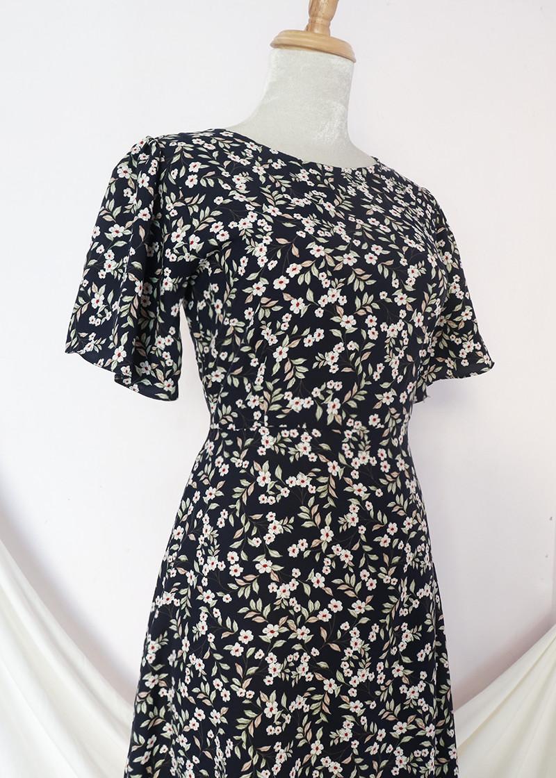 Đầm váy nữ dài hoa nhí, dáng xoè, đẹp nhẹ nhàng, đơn giản, ngọt ngào RD037.2