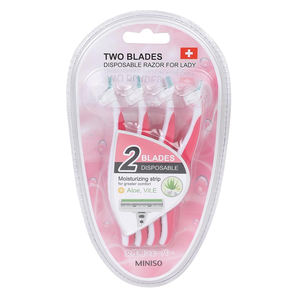 Dao cạo nữ Miniso dùng 1 lần Lady 4 Pack (Hồng) - Hàng chính hãng