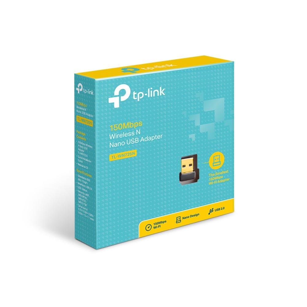 USB Thu WIFI TP-Link TL-WN725N (Đen) - Hàng Chính Hãng