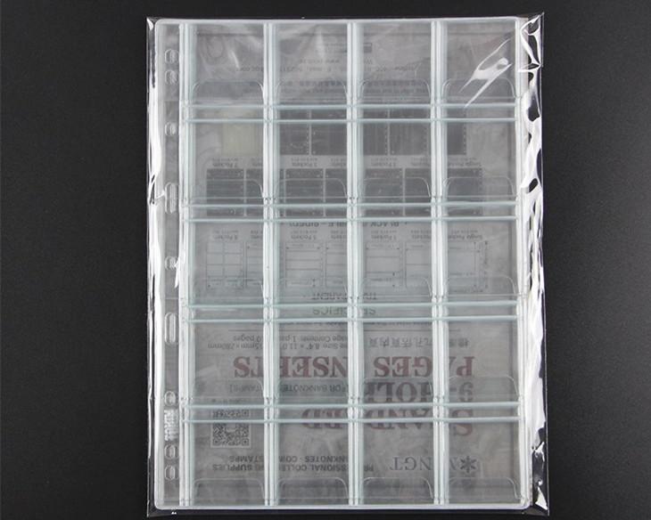 Combo 10 Phơi Đựng Tiền Xu PCCB Có 20 Ngăn Ô 45mm CB10TX2045