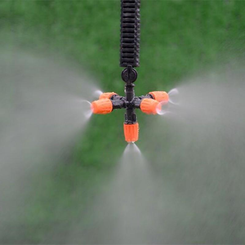 Bộ phun sương 10 béc CAM đơn tưới lan, làm mát tự động