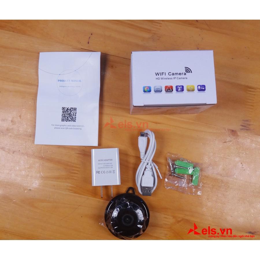 Camera Wifi mini V380 Pro Full HD 1080P có báo động chống trộm tặng kèm cục nguồn 5V