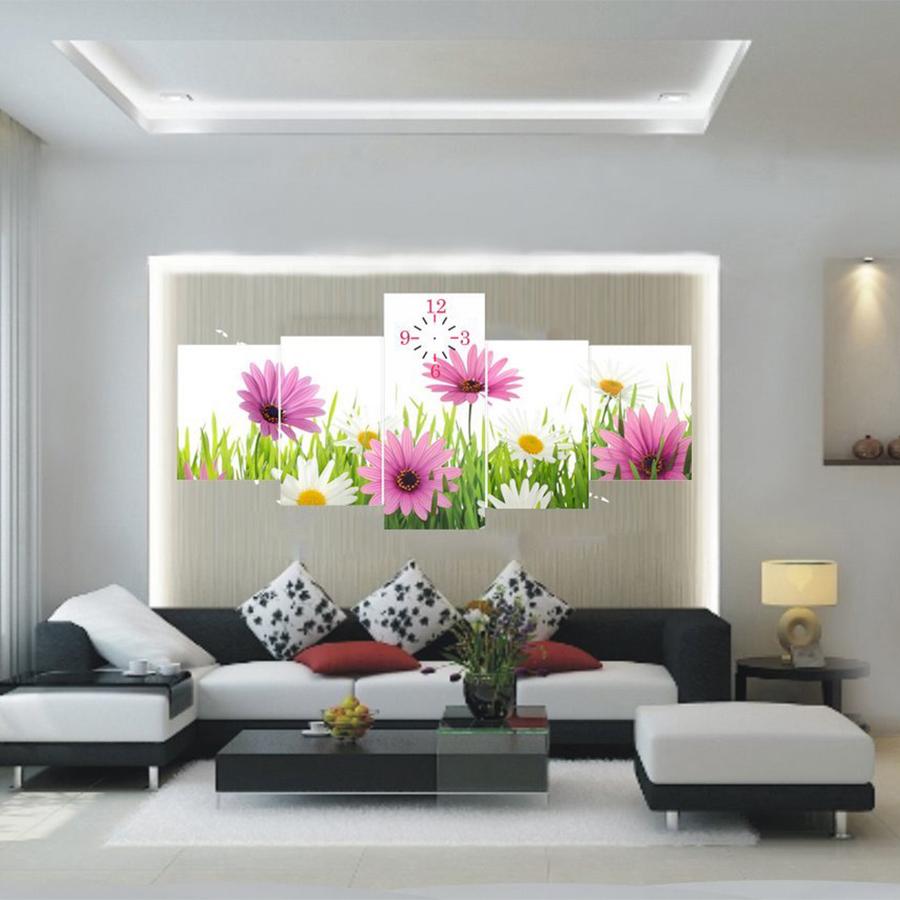 Tranh Đồng Hồ Hoa Cúc TDH29