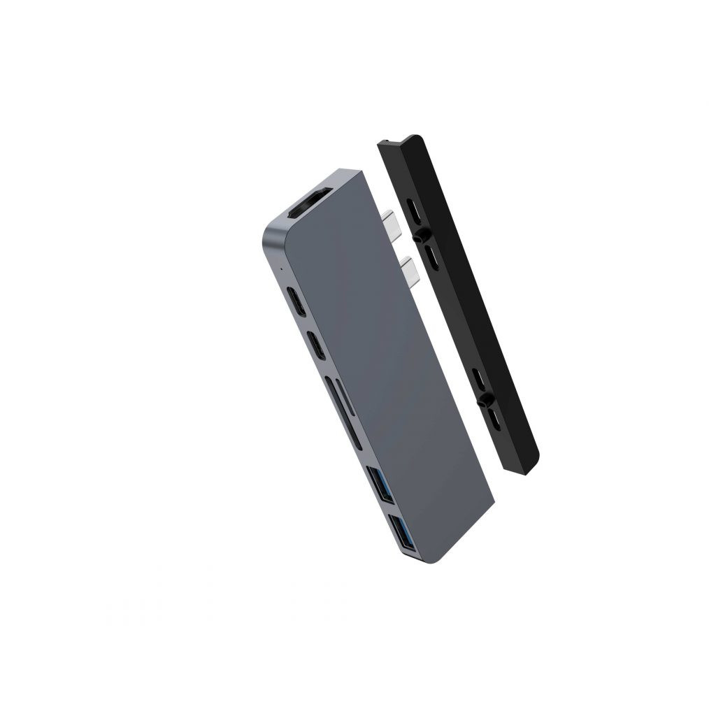 CỔNG CHUYỂN HYPERDRIVE DUO 7-IN-2 (VERSION 2) HDMI 4K60HZ WITH CABLE USB-C HUB FOR MACBOOK/IPADPRO/LAPTOP/SMARTPHONE - HÀNG CHÍNH HÃNG - HD28C