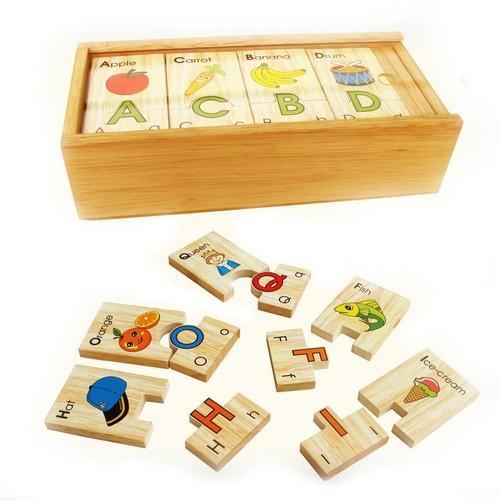 Đồ chơi gỗ Winwintoys - Bộ tìm chữ cái, tiếng Anh - 64312