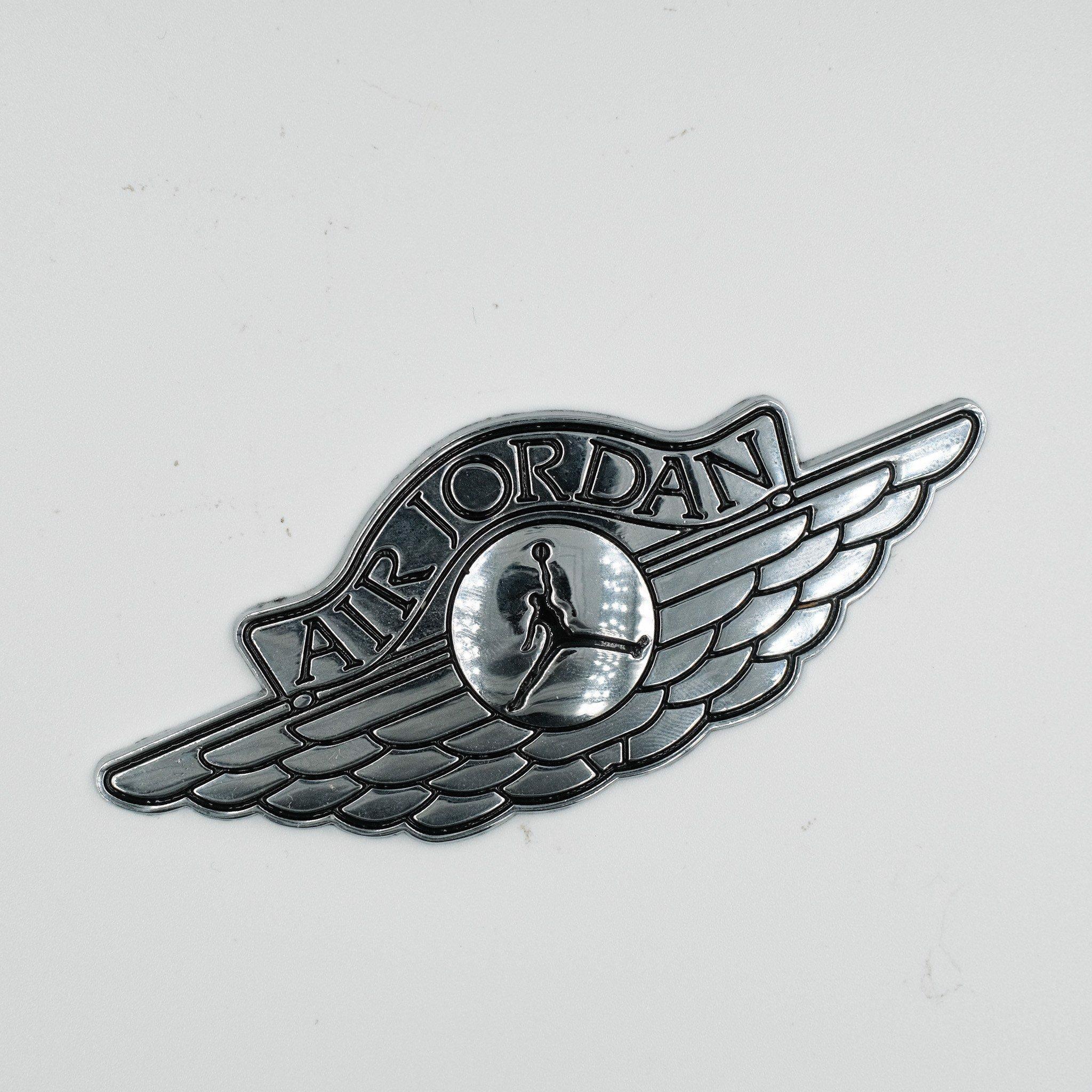 Air Jordan Bạc - Sticker hình dán metal kim loại 3D