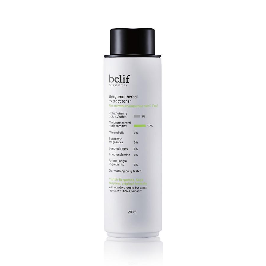 Nước hoa hồng dạng gel nước Belif Bergamot Herbal Extract Toner 200ml