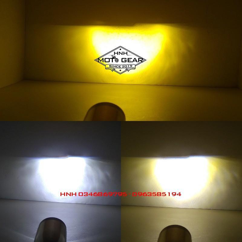 Bóng Đèn Pha Led Mini Y6 - Pha Trắng / Cos Vàng