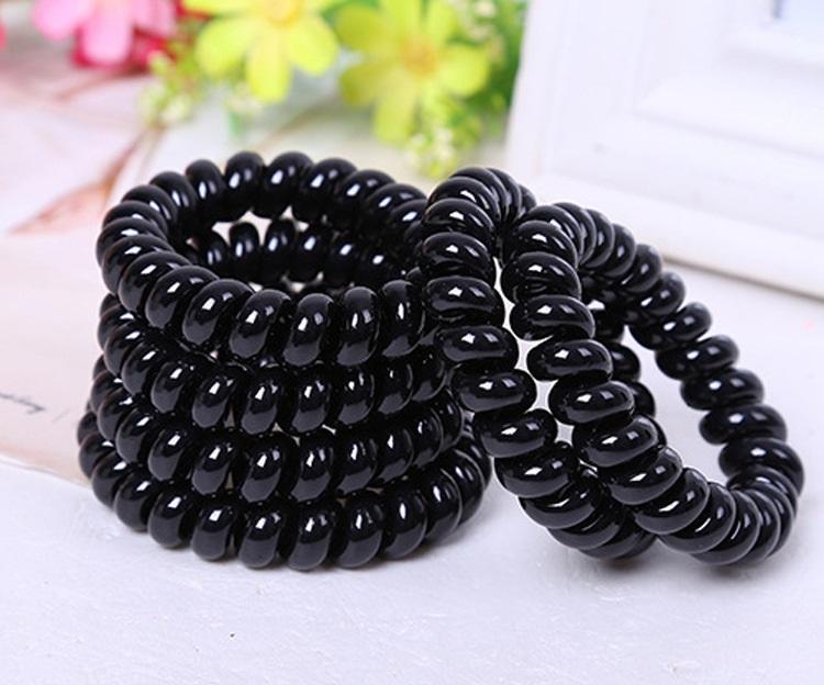 Bộ 24 móng tay giả màu đơn sắc (R053) tặng kèm thun lò xo cột tóc màu đen tiện lợi