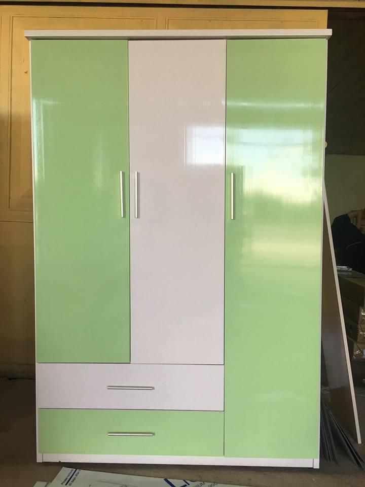 Tủ nhựa đài loan 3 cánh 2 ngăn kéo cao cấp V320