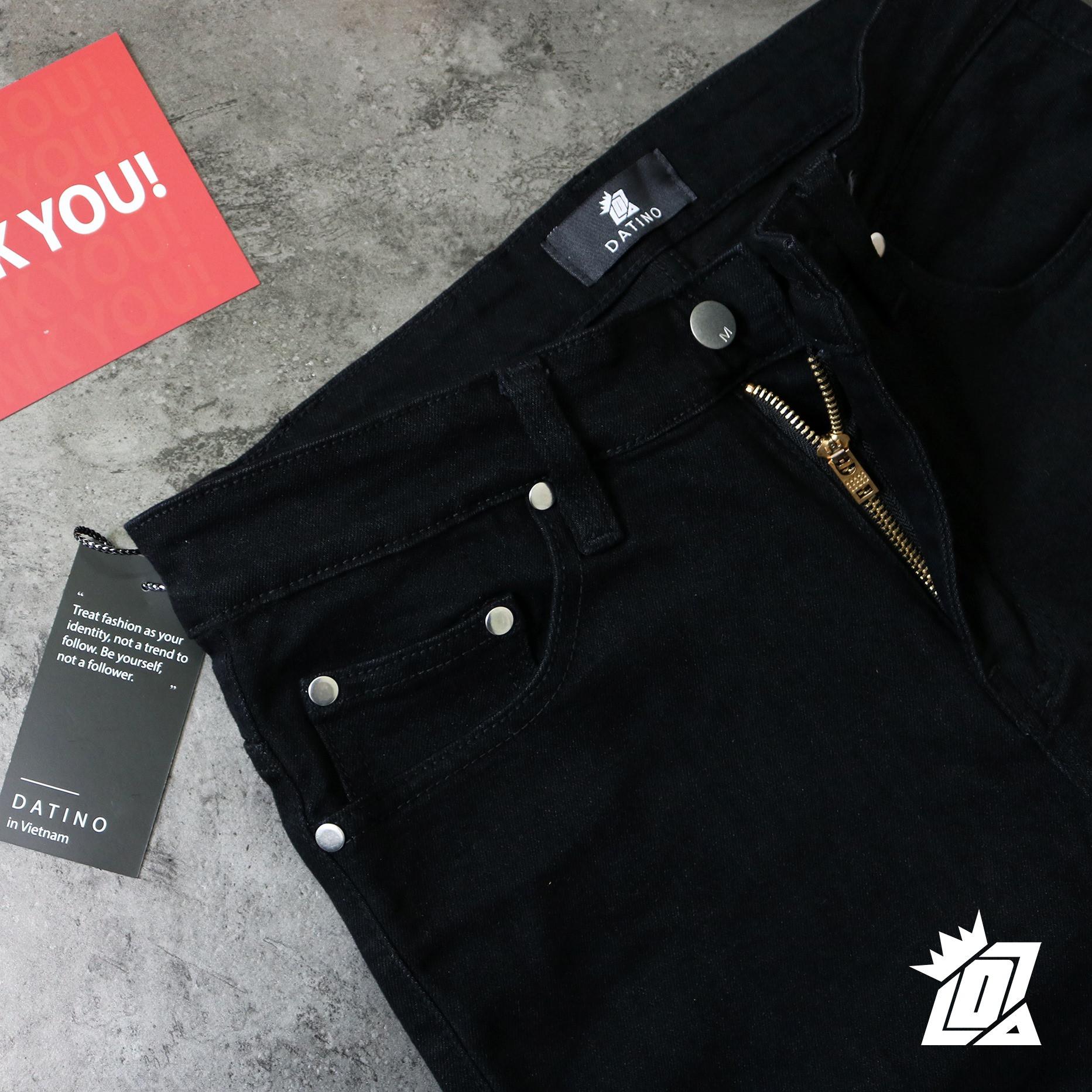 Quần jean nam Skinny khóa Zipper Datino chất Denim dày dặn co giãn