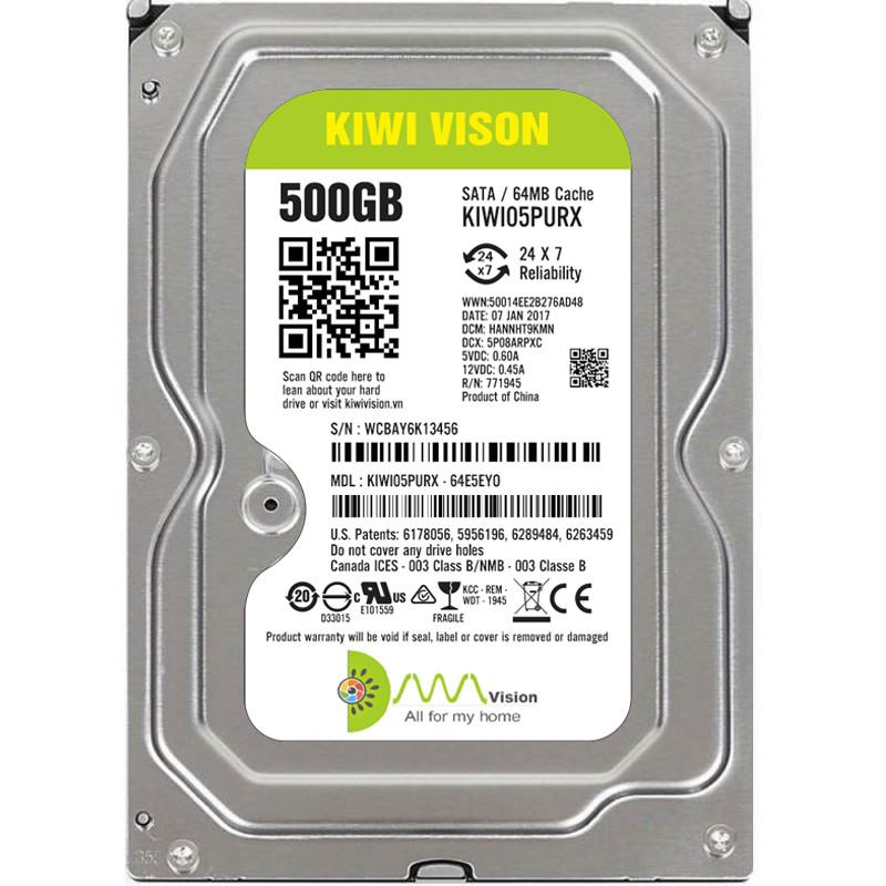 Ổ cứng HDD KIWIVISION 500G SATA 3 - Hàng chính hãng