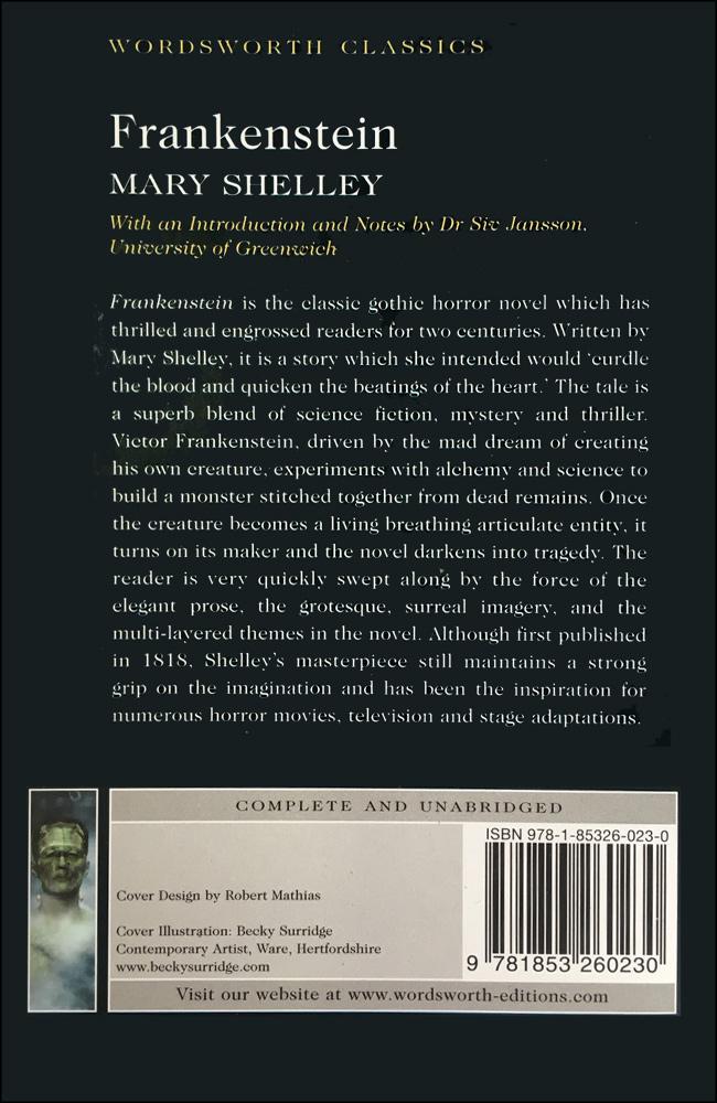 Wordsworth Classics: Frankenstein (Paperback)