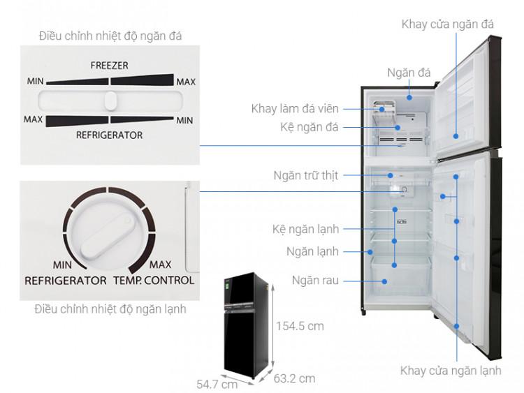 Thông số kỹ thuật Tủ lạnh Toshiba Inverter 233 lít GR-A28VM(UKG)