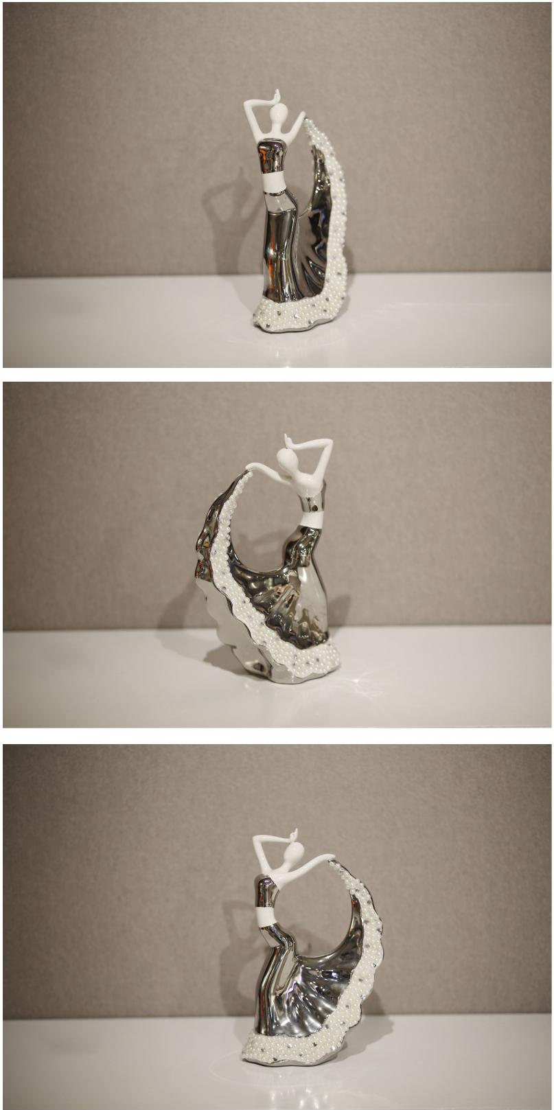 Tượng Cô Gái Khiêu Vũ - Decor trang trí nhà cửa phong cách Châu Âu cổ điển NHTC1177-1B-WS