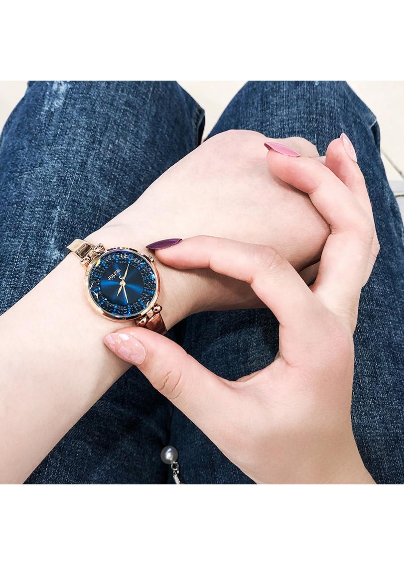 Đồng hồ nữ Julius Hàn Quốc JA-1228 dạng lắc tay mặt đính hạt lạ mắt  (nhiều màu)