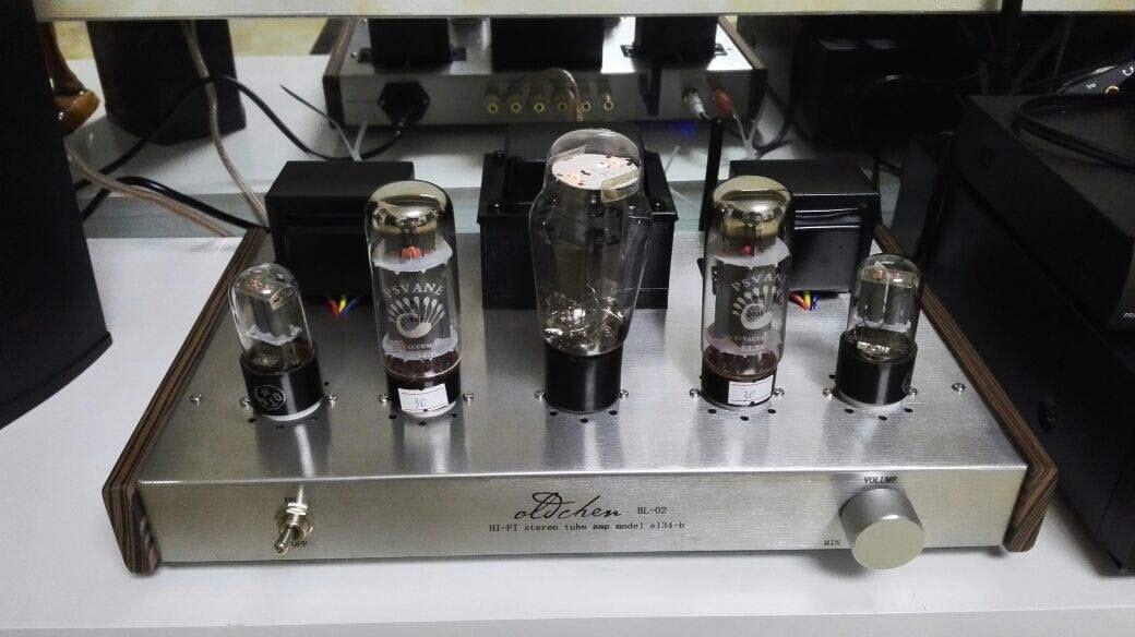 Ampli đèn Oldchen EL34 BL-02 công suất 10w/ 1 kênh chất âm mềm mại - chi tiết - mê hoặc lòng người AnZ