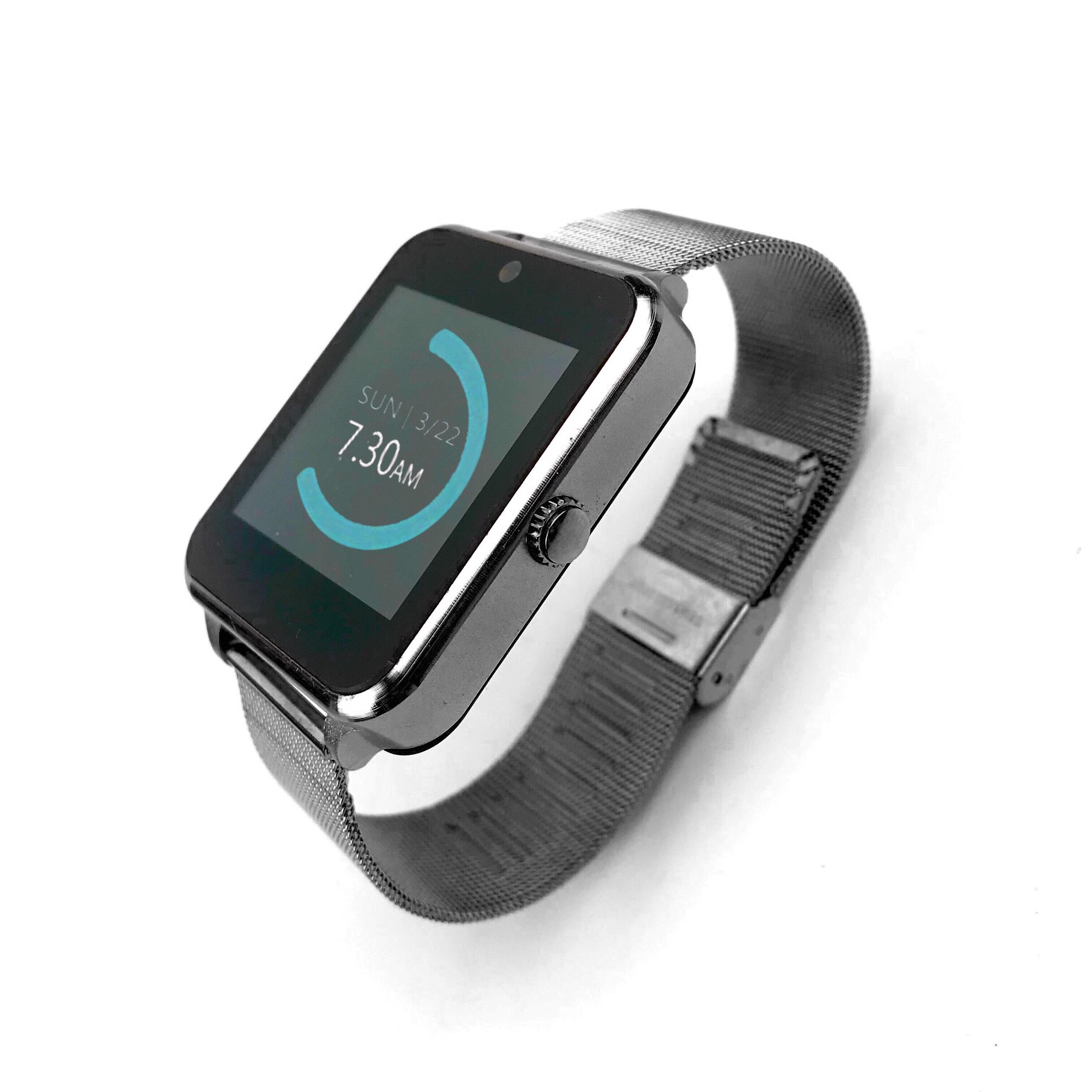 Đồng hồ thông minh GUTEK Z60 cảm ứng, lắp sim nghe gọi nhắn tin, 3 màu đen hồng, tương thích iphone androi - Hàng chính hãng