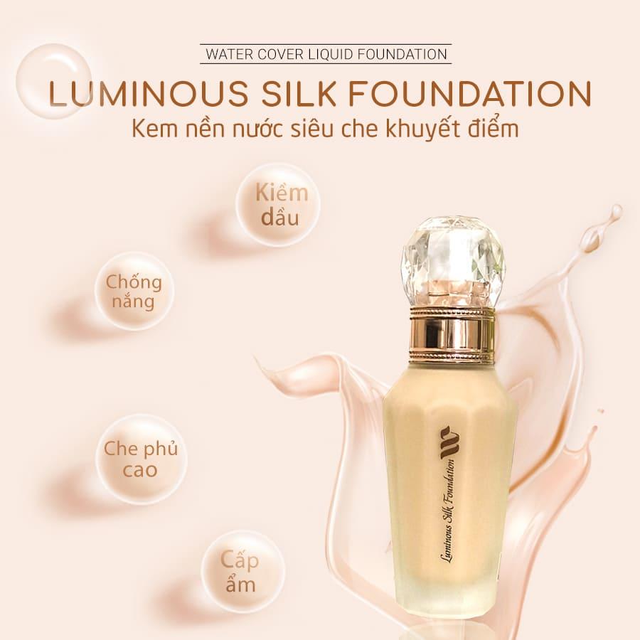 Kem Nền Siêu Che Khuyết Điểm Tông Da Tự Nhiên #01 - WSKIN Luminous Silk Foundation