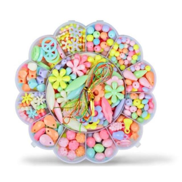 Bộ xâu hạt cườm đa sắc mầu hot ( hình tròn)