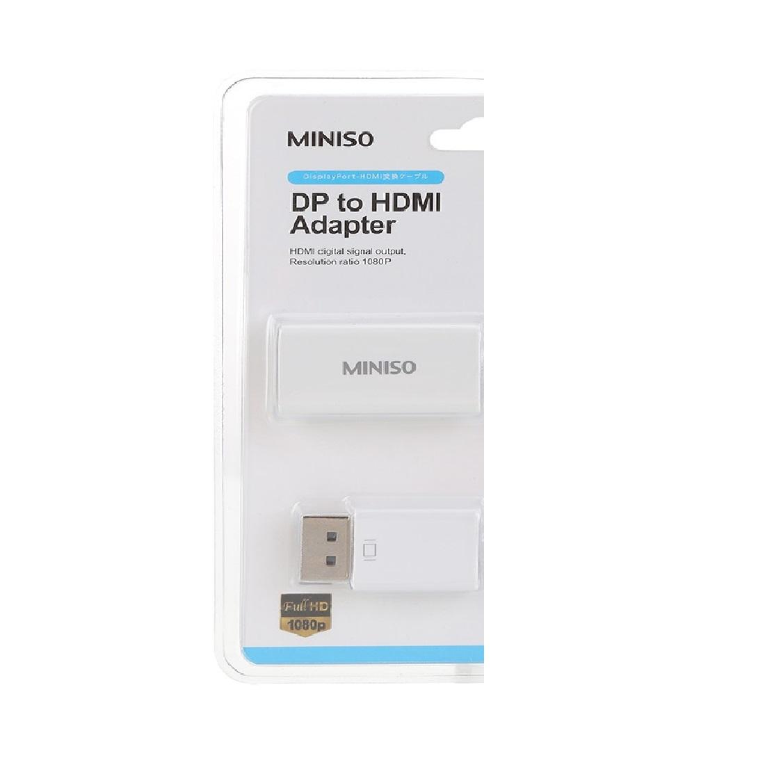 Cáp chuyển DP sang HDMI Miniso - Hàng chính hãng