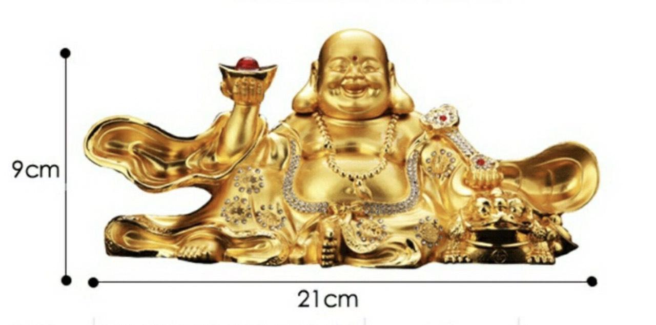 Tượng phật di lặc nâng vàng si vàng