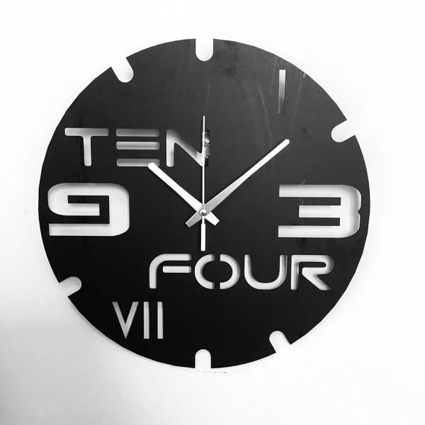 Đồng hồ treo tường chất liệu ván hdf trang trí