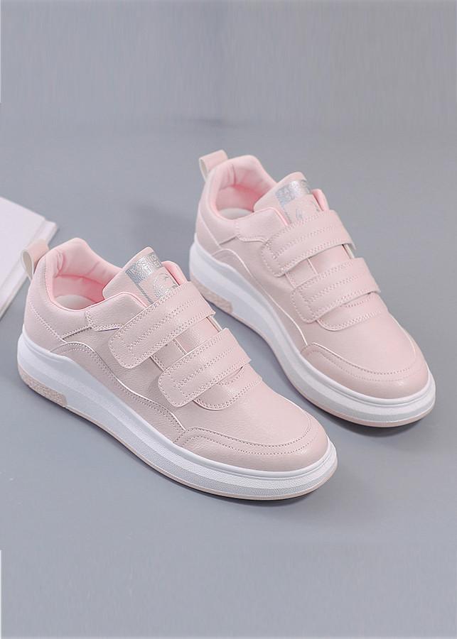 Giày thể thao nữ độn đế màu hồng xinh xắn GTT6402