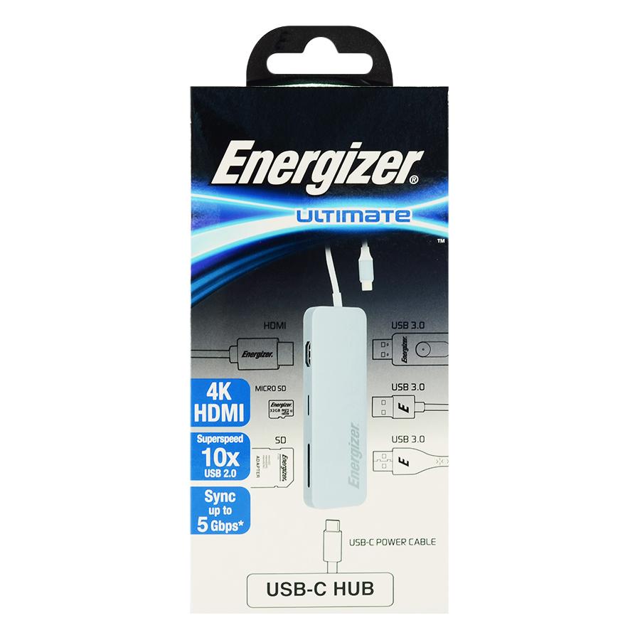 Hub USB 3.0 Energizer 7 Cổng HC3MPGY4 - Hàng chính hãng