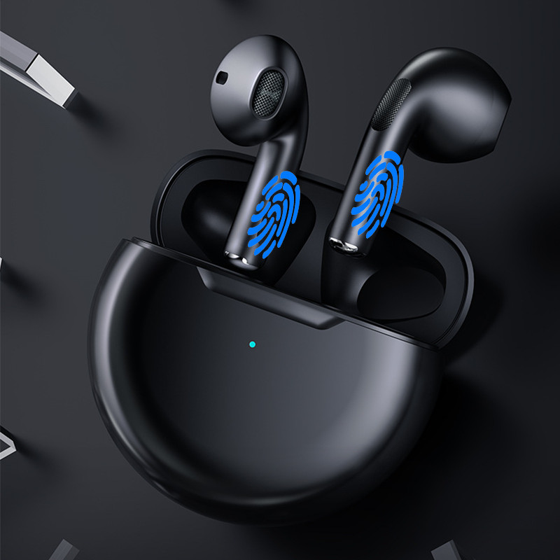 Tai Nghe Bluetooth Không Dây V5.0 Cảm Ứng Hai Tai PKCB - Hàng Chính Hãng